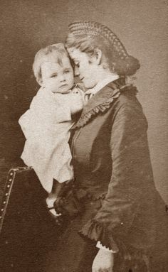 Sophie Charlotte in Bavaria Duchess of Alencon and son Emmanuel of Orleans
