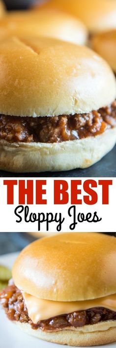 The Best Sloppy Joes are easy to make so delicious! Triple or quadruple the reci… The Best Sloppy Joes are easy to make so delicious! Triple or quadruple the recipe for parties, backyard barbecues, and giant family vacations. via Culinary Hill Best Sloppy Joe Recipe, Sloppy Joes Recipe, Homemade Sloppy Joe Recipe, Homemade Sloppy Joes, Easy Sloppy Joes, Healthy Sloppy Joes, Meat Recipes, Cooking Recipes, Recipies