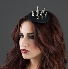 Items similar to Spiked - Spiked headpiece Spikes Hat Fascinator Black Headpiece on Etsy Black Fascinator, Headpiece, Final Test, Beauty Photography, Bobby Pins, I Shop, Hair Accessories, Cosplay, Etsy Shop
