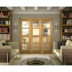 Belgrave 4 Light Internal Folding Doors - Internal Folding  Sliding Doors - Interior Timber Doors -Doors  Windows - Wickes