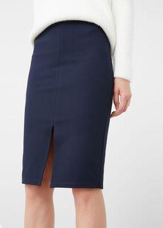 Ołówkowa spódnica z rozcięciem - Spódnice dla Kobieta | MANGO Polska