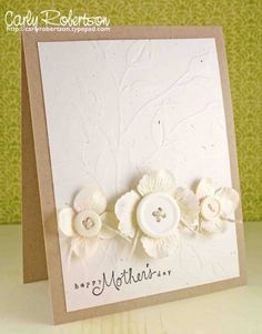 Love the natural look of this handmade card!