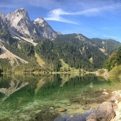Weather is not so good these days 😤, cheering up with this picture from Gosausee ⛰😍 Visit Austria, Travel Bugs, Winter Snow, Outdoor Travel, Alps, Wilderness, Wanderlust, Hiking, Weather