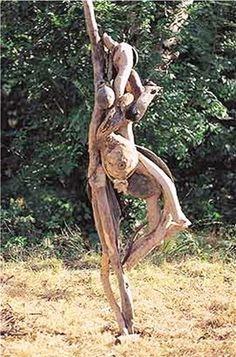 Vrouw drijfhout
