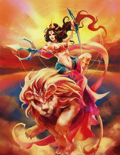 Maa Durga #art #xena