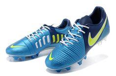 Chaussures de foot nike CTR360 Maestri III FG Bleu Blanc Jaune pas cher