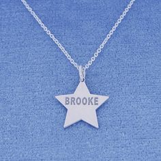 This Personalized Sterling Silver Name Engraved Star Charm Pendant is the perfect gift for anytime of the year. Select any name or initials of your choice to be engraved on this special heart pendant, which is beautifully crafted by solid Sterling Silver hanging on the sturdy Rollo chain. This name engraved pendant in fine quality Sterling Silver is cut out by latest technology laser machine with top quality guaranteed and high polished finish. The chain is optional and all the letters are…
