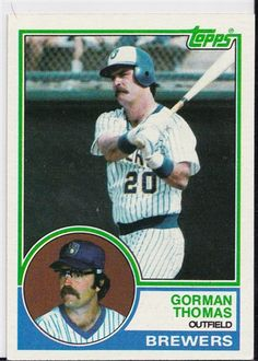 43e33044325 1983 Topps Baseball Card of Gorman Thomas Milwaukee Brewers