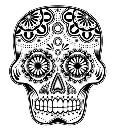 Sugar skull coloring page--open image in new tab, zoom in once, then print