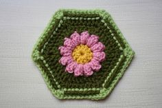 Ravelry: Painted Daisy Hexagon pattern by Megan Speakes