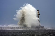"""""""Stormy weather and rough seas at Roker Lighthouse."""" Photo #1 by © Gail Johnson"""