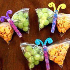 Butterfly snack bags - snack week at school