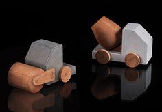 Petite bétonneuse et petit rouleau compresseur: studio Paulsberg: http://www.store.paulsberg.co