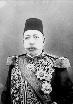 The picture displayed is of Sultan Mehmed V who was the Ottoman Empire leader during World War I. He is one of the Central Power leaders.