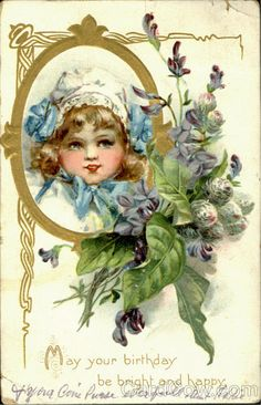 victorian girl postcard