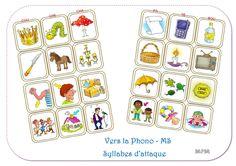 Le succès de mes petits jeux de phono commence à me dépasser complètement. Jusqu'à présent, j'arrivais à vous envoyer les fichiers de façon... Free Frames, Kids Learning, Literacy, Activities For Kids, Ms, Jouer, Blog, School, Montessori