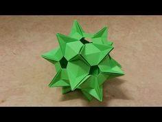 668 Origami 종이접기 (다면체) polyhedron 색종이접기 摺紙 折纸 оригами 折り紙 اوريغامي - YouTube