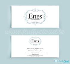 Geboortekaart op maat Enes - FluffyCloud Geboortekaartjes
