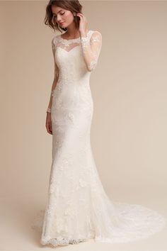 BHLDN Anja Gown in Bride Wedding Dresses Sleeves   BHLDN