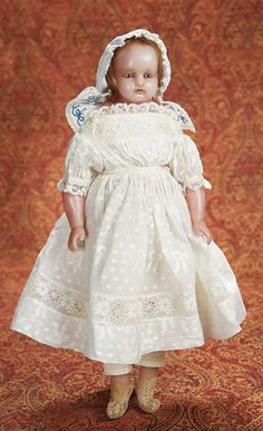 English Poured Wax Child Doll with Beautiful Costume 1100/1500