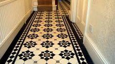 The Chic Technique: London Mosaic - Edwardian Period Reproduction Ceramic Tiled Hallway Tiles Design For Hall, Hall Tiles, Tiled Hallway, Tile Design, Edwardian Hallway, Edwardian House, 1930s Hallway, Tiles London, Hall Flooring