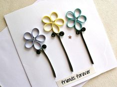 handmade paper quilled friendship greeting card by sayitwithblooms