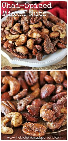 Chai-Spiced Mixed Nuts pack all the wonderful flavors of chai in a tasty little grab-by-the-handful bite. They're a perfect nibble for parties, game day, or everyday snacking. Game Day Snacks, Game Day Food, Most Popular Recipes, Amazing Recipes, Nibbles For Party, Good Food, Yummy Food, Mixed Nuts, Fabulous Foods