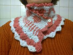 Romantic crocheted cowl with hearts in grey by CristinaMyCrochet, $17.00