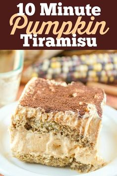 I LOVE LOVE LOVE Tiramisu - but it's a bit labor-intensive - there are many ingredients and all these steps - and ingredients that I probably wouldn't use again. So I decided to come up with my own recipe for a quick and easy Tiramisu! You'll have this pumpkin tiramisu ready in ten minutes and it's delicious!!! Easy Delicious Recipes, Best Dessert Recipes, Delicious Desserts, Yummy Food, Dinner Recipes, Pumpkin Recipes, Fall Recipes, Holiday Recipes, Party Desserts