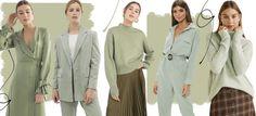 Trend der Frühlingsfarben Sage Green – K a y l e i g h R e b e k a h – trendfarben 2019 wohnen Green Fashion, Autumn Fashion, Fix Clothing, Sage Color, Green Street, Spring Colors, Fashion 2020, Color Trends, Green Outfits