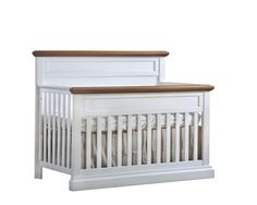 """Cortina """"5-in-1"""" Convertible Crib Farmhouse Cribs, 6 Drawer Dresser, Convertible Crib, Baby Makes, Headboards For Beds, Baby Furniture, Solid Wood, Toddler Bed, Home Decor"""