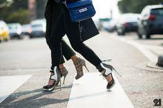 Woman wearing Nicholas Kirkwood heels