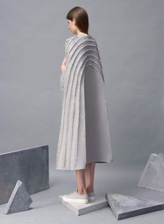 "Zita Merényi has replaced sewing with soldering to create a collection of garments with ""scar lines"" rather than seams."