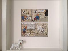 Tim und Struppi gerahmte Abbildung u. Hergé Comic Strip l ' Ile Notre