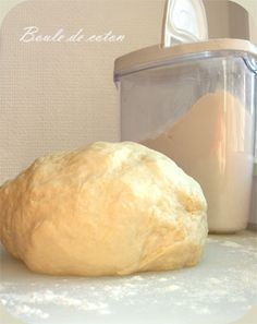 Flamekueche dough For 2 flammekueches: – 300 g of flour – 1 egg – 1 CS of oil – 1 pinch of salt – 120 ml of water Cooking Chef, Cooking Recipes, Homade Pizza Recipes, Pizza Cake, Dough Recipe, Bread Baking, Farine T45, Pasta, Bakery