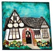 Just finished this mixed media piece of my house on Jasmine Avenue. I love our little gingerbread house. Art Journal Inspiration, Creative Inspiration, Paper Art, Paper Crafts, Charming House, Little Houses, Tiny Houses, Mixed Media Collage, Altered Art