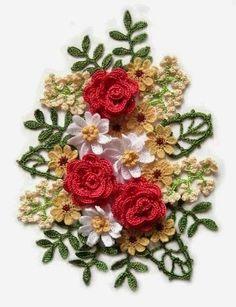 Ivelise Feito à Mão: Flores Em Crochê