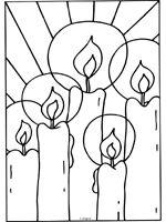 Glas In Lood Kleurplaat Kerst Kerst Groep 3