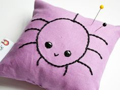 Spider! Pincushion in Lilac £5.00