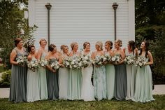 winter bridesmaid dresses Applause Blooms n Blossoms LLC Wedding Dress Perfection - Petite Or Pleasa Winter Bridesmaids, Dusty Blue Bridesmaid Dresses, Wedding Bridesmaids, Olive Green Weddings, Sage Green Wedding, The Bride, Wedding Colors, Dream Wedding, Trendy Wedding