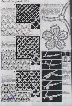 Дуплет спецвыпуск - agulhasfashion2 - Picasa Web Albums Irish crochet motif chart pattern free, fill, background, repetition