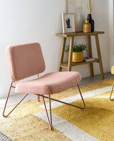Quel fauteuil rose choisir ? | My Blog Deco Rose Pastel, Blog Deco, Looks Vintage, Floor Chair, Flooring, Furniture, Home Decor, Vintage Modern, Modern Armchair
