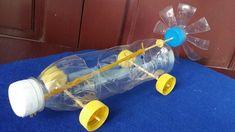 Como fazer um carro elástico alimentado | Usando garrafa de plástico
