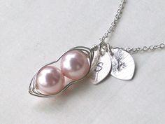 Peas in a Pod Sterling silver Necklace  My Precious by ForMebyAnnA