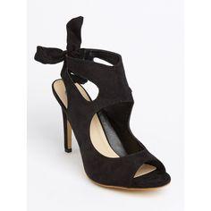 Slingback Peep-toe Heels Black