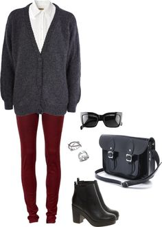 """Preppy Rock"" by eternal-sparkles-stylist on Polyvore... perfect laidback yet chic look for school :)"