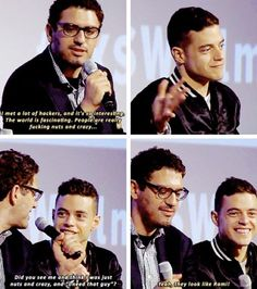 """Mr. Robot Q&A with the cast and director at the SXSW festival. (March 2015) ㅡ And Rami was like """"...thanks"""""""