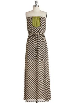 Rhythm and Bold Dress. Style is something that roots from your soul, and the statement pattern of this strapless maxi dress manifests your fashionable being. #multi #modcloth