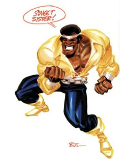 And artists from all over the world draw him just as a tribute, like this rendering by the one and only Bruce Timm