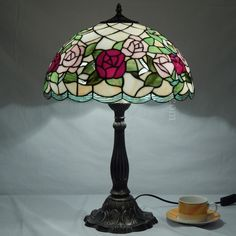 Rose Tiffany Lamp 16S0-109T305